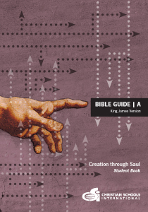 Bible Guide A — Student Bible Workbook (KJV) (Grade 4-6)
