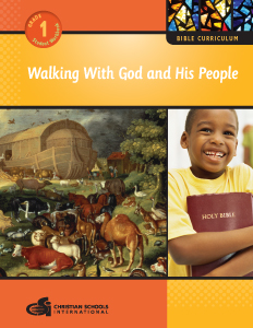 Walking With God and His People – Student Workbook (Grade 1)