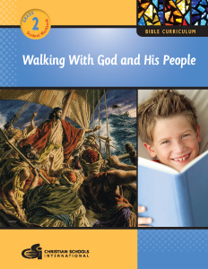 Walking With God And His People: Bible Workbook - Grade 2