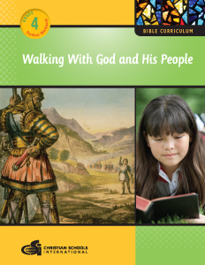 Walking With God and His People - Bible Workbook (Grade 4)