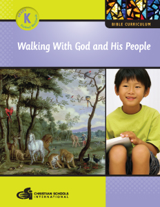 kindergarten bible workbook - walking with god and his people
