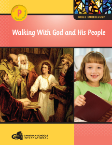 Walking With God and His People – Student Workbook (Pre-K)